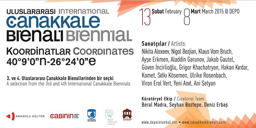 """Koordinatlar"", Çanakkale Bienali Seçkisi İstanbul Sergisi"