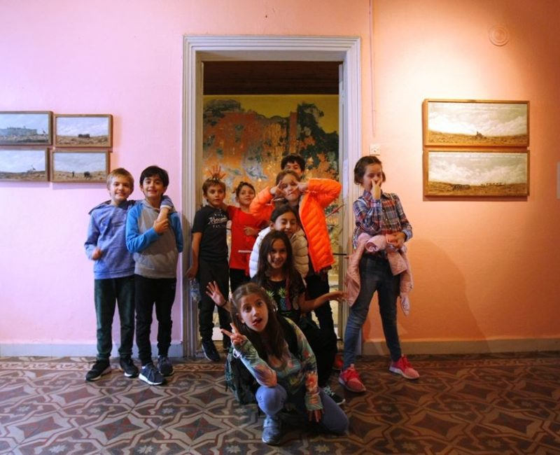 Çocuklarla Bordo Bina Turu